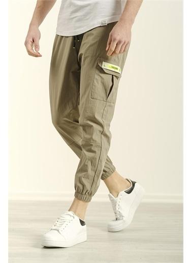 Oksit Drake Paçası Lastikli Kargo Cep Paraşüt Kumaş Comfort Erkek Eşofman Altı Yeşil